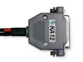 Lower side of serial port DB25 plug.